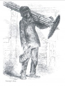 Chimney sweep's climbing boy