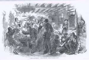 Kitchen, Fox Court, Grays Inn Lane, London, Mayhew 1861, Vol I p259